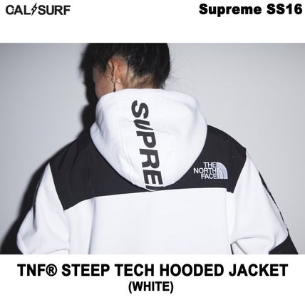 Supreme パーカー・フーディ Mサイズ!Supreme (シュプリーム) x TNF STEEP TECH SWEATSHIRT(5)