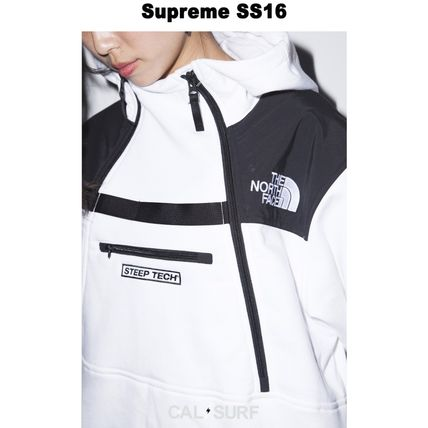 Supreme パーカー・フーディ Mサイズ!Supreme (シュプリーム) x TNF STEEP TECH SWEATSHIRT(6)