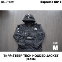 Mサイズ!Supremeシュプリーム x TNF STEEP TECH HOODED BLACK
