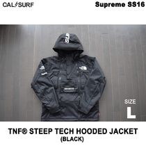 Lサイズ!Supremeシュプリーム x TNF STEEP TECH HOODED BLACK