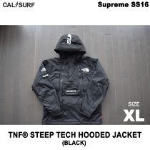 XLサイズ!Supremeシュプリーム x TNF STEEP TECH HOODED BLACK