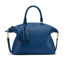 【Tory Burch 】 THEA MEDIUM SLOUCHY SATCHEL ブルー