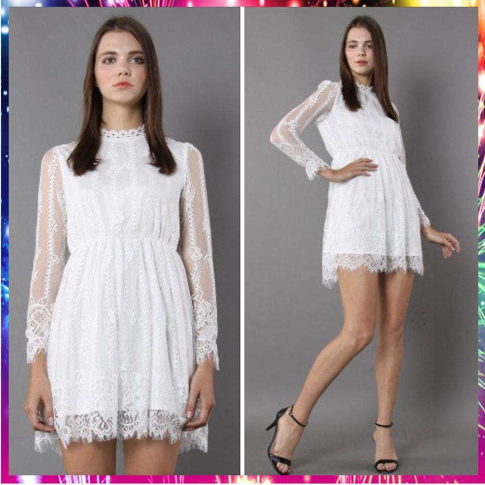 【送料関税込・国内発送】Pretty in White Full Lace Dress