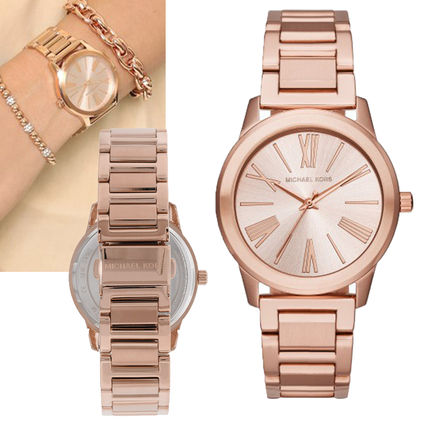 Sale simple rose gold watch