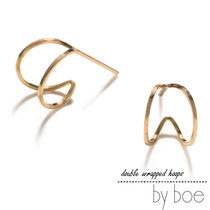byboe DOUBLED WRAPPED HOOPS ピアスe632