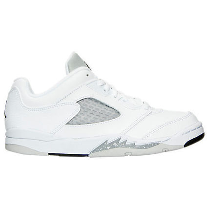 SS16 AIR JORDAN RETRO 5 LOW WHITE GP PS 17-22cm 送料無料