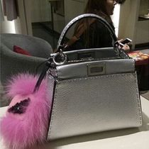 FENDI★人気 SELLERIA PEEKABOO MINI シルバー