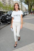 Alexa Chung for AG Brianna Skinny in Sulfur Natural