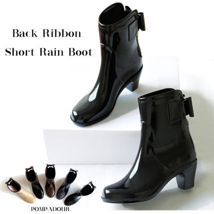 Pompadour-Pompadour - Back Ribbon Short Rain Boot