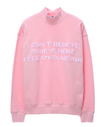 ★SJYP正規品★EMS無料発送★Blue ink half neck sweatshirt★