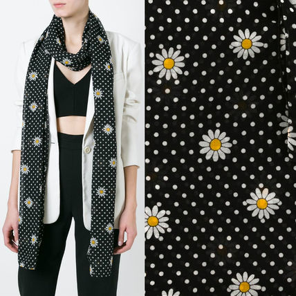 16SS WSL805 DAISY PRINTED SIGNATURE SCARF