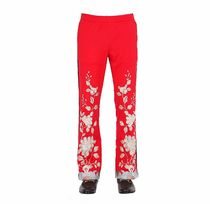 ♥FLORAL EMBROIDERED TECHNO JERSEY PANTS♥