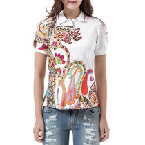 ETRO 16SS ペイズリープリント ポロシャツ_WHITE