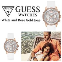 GUESS≪期間限定セール≫White Rose Gold tone Feminine 腕時計