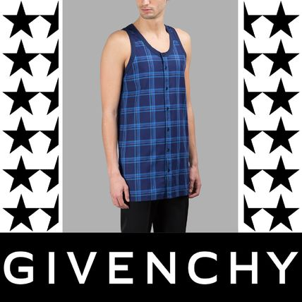 GIVENCHY(ジバンシィ) BLUE CHECKED TANK TOP タンクトップ