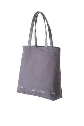 Louis Vuitton トートバッグ 限定☆パリ ルイヴィトン財団美術館トートバッグ ルイビトンgrey(3)