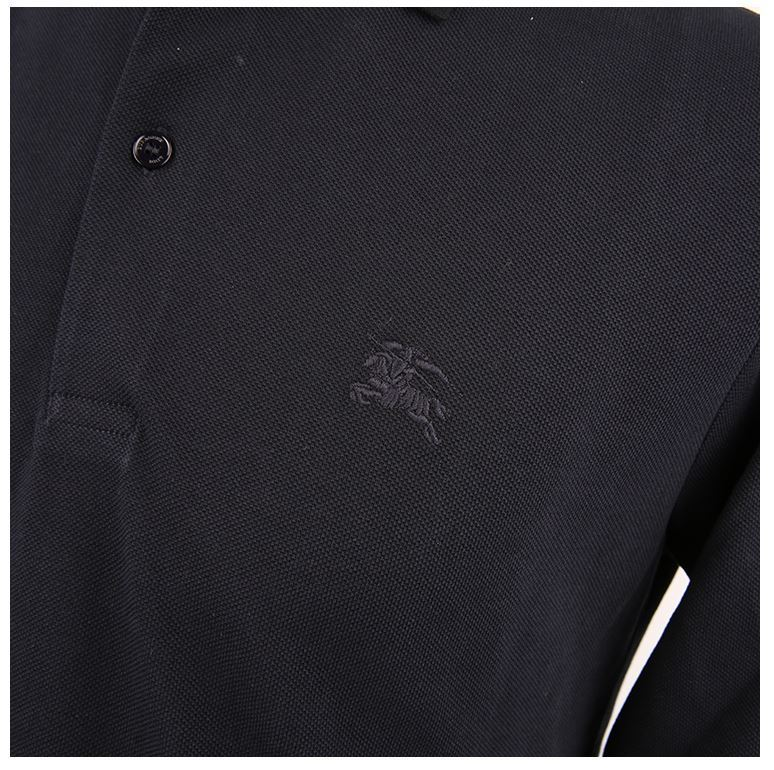 【関税負担】Burberry 16ss Check Placket Polo Shirt/DARK NAVY