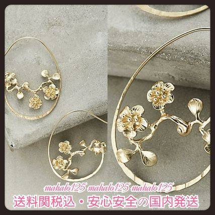 ★送関込★anthropologie Budding Vine Hoopsピアス