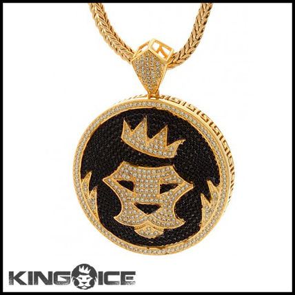 """King Ice"" 14K GOLD STUDDED KING ICE SHIELD ネックレス"