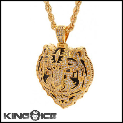 """King Ice"" JUNGL JULZ 18K GOLD BENGAL タイガーネックレス"