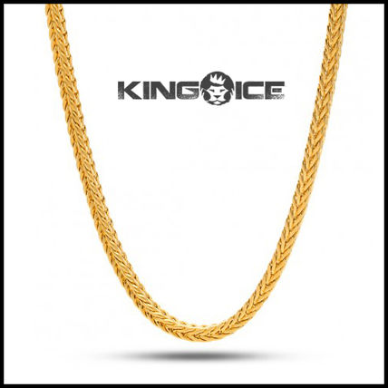 """King Ice"" 3MM YELLOW GOLD PLATED HIP HOP FRANCO CHAIN"