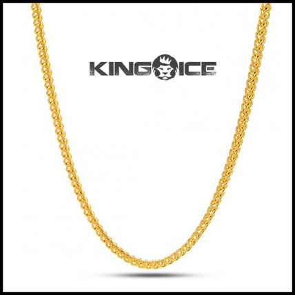 """King Ice"" 2.5MM 14K GOLD STAINLESS STEEL FRANCO CHAIN"