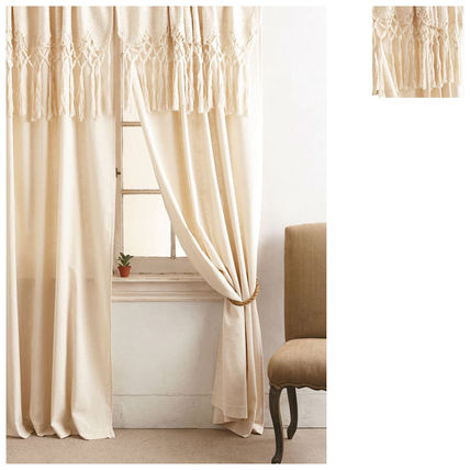 Anthropologie curtains 2 pairs Knotted Macrame