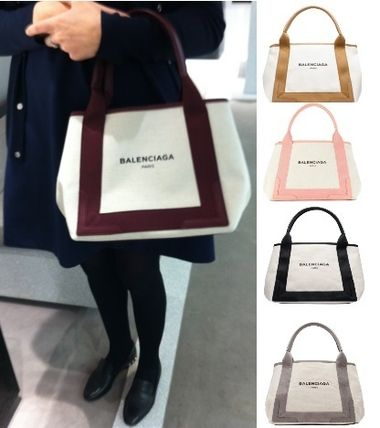 BALENCIAGA popular canvas tote small