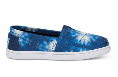 【即発】トムス TOMS BLUE TIE DYE SEA TURTLES YOUTH CLASSICS