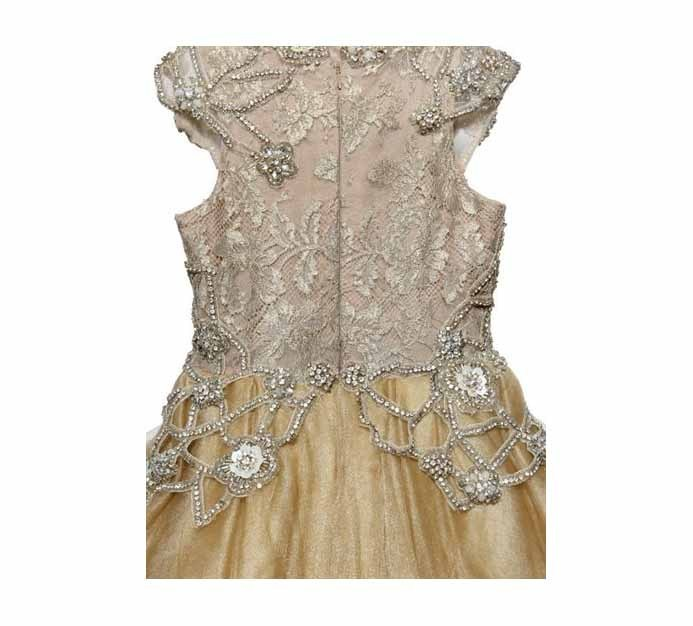 ♥HANDMADE EMBELLISHED LACE & TULLE DRESS♥