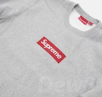 在庫即発 Supreme  2015AW Box Logo Crewneck Grey