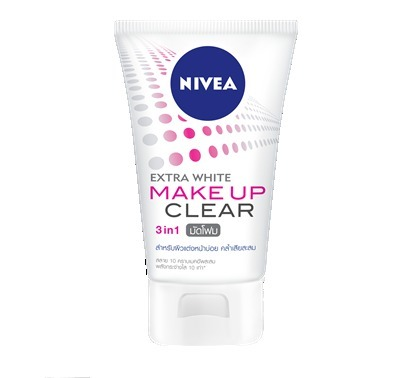 4個☆ NIVEA Make up Clear Extra White Mud Foam ニベア 100g