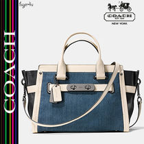 COACH★スワッガーデニム☆SOFT SWAGGER COLORBLOCK DENIM 37731