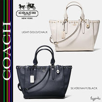 COACH★キュート☆CROSBY CARRYALL FLORAL RIVETS LEATHER 37400