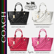 COACH★クロスビー*CROSBY CARRYALL CANYON QUILT LEATHER 37486