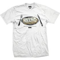 DGK(ディージーケー ) Tシャツ・カットソー ディージーケー DT-2680 MEAL TIME TEE WHITE