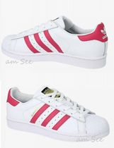 【adidas】SUPERSTAR FOUNDATION J スニーカー 白×ピンク