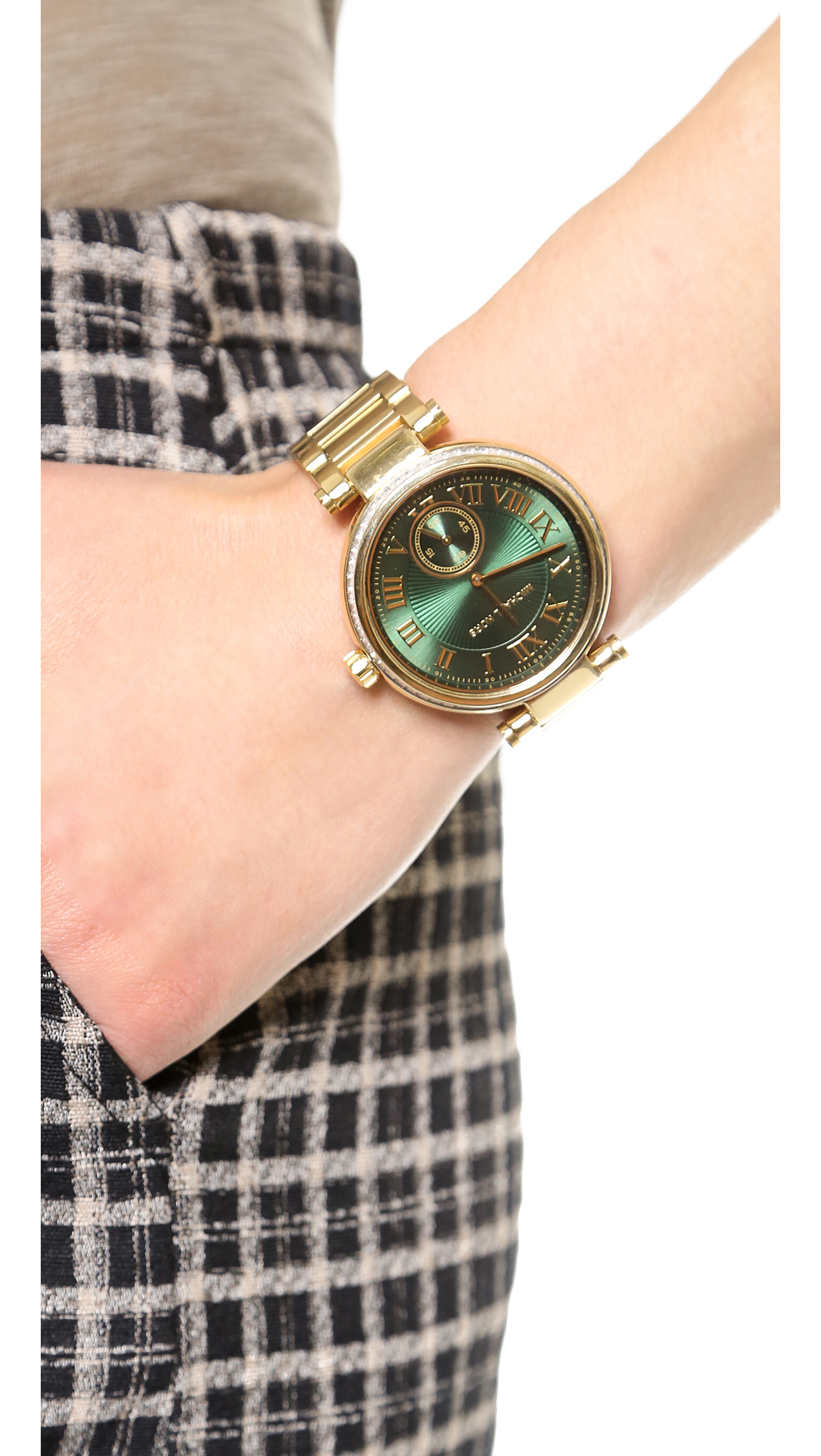 在庫あり★関税込★Michael Kors Skylar Gold MK6065 Green