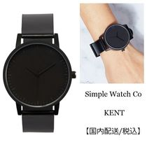 Simple Watch Co(シンプルウォッチカンパニー) アナログ腕時計 Unisex&simple design♪ Simple Watch Co★KENT★ レザー腕時計