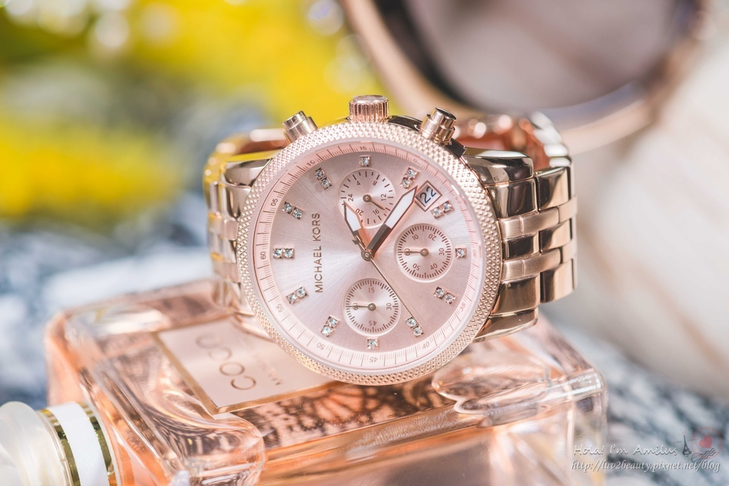 関税込★Michael Kors Ritz Rose Gold Ladies Watch MK6077
