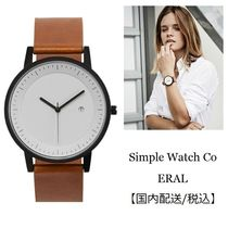 Simple Watch Co(シンプルウォッチカンパニー) アナログ腕時計 Unisex&simple design♪ Simple Watch Co★Earl★ レザー腕時計