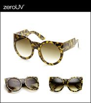【即発】zeroUV*Over Size Cat Eye サングラス Crazy Tortoise