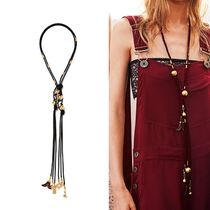 Chloe クロエ Cord gold-plated and wood necklace ネックレス