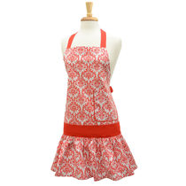 Flirty Aprons エプロン Sadie Damask Red  [即発]