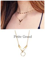 Petite Grand(プチグランド) ネックレス・ペンダント ミランダ愛用!SS16新作V AND CIRCLE NECKLACE
