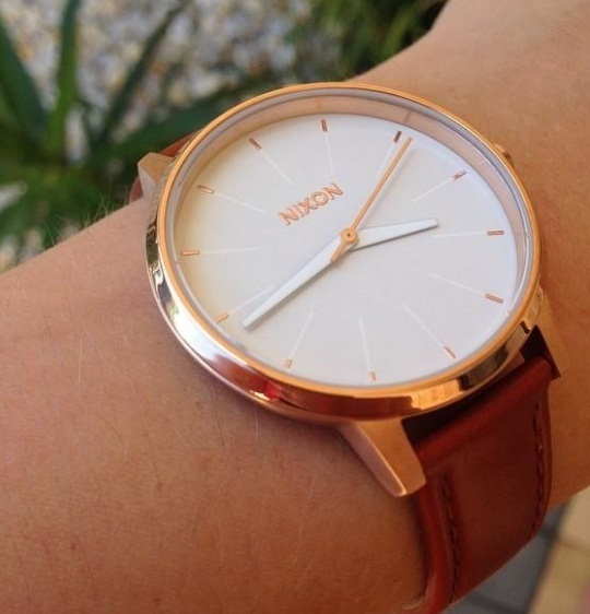 送料税込【NIXON】Kensington Leather☆A108-1045☆RoseGold