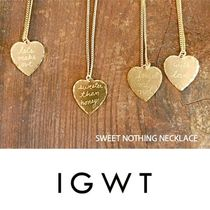 IN GOD WE TRUST(インゴッドウィートラスト) ネックレス・ペンダント In God We Trust  真鍮ハートネックレス Sweet Nothing Necklace