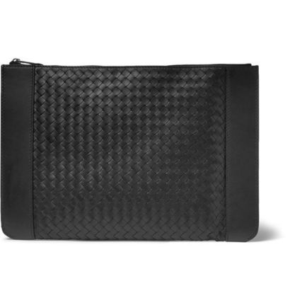 Intrecciato Leather Pouch イントレチャート クラッチ ポーチ