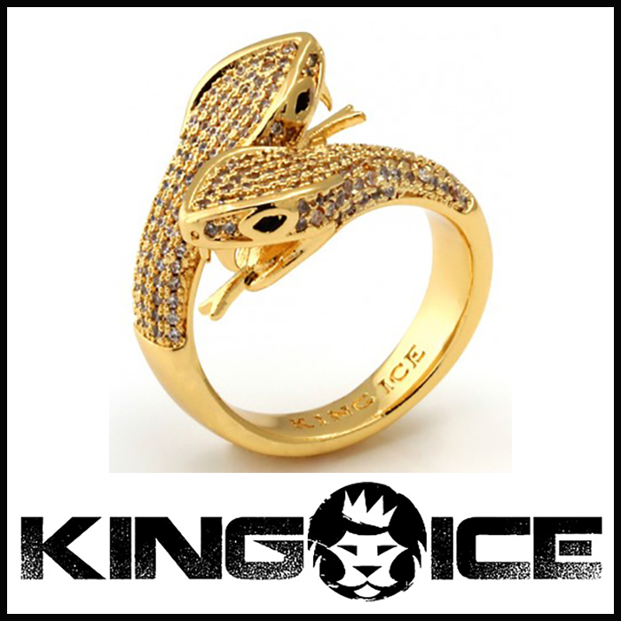 "Tyga愛用BR ""King Ice"" JUNGL JULZ 18K GOLD スネークリング"