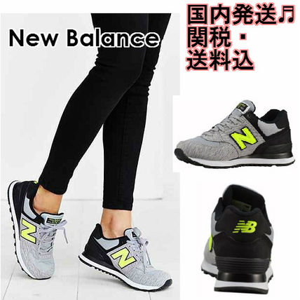 NEW BALANCE 574 Heather ring lace wet sneakers